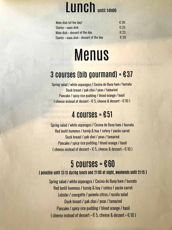 kok-au-vin menu