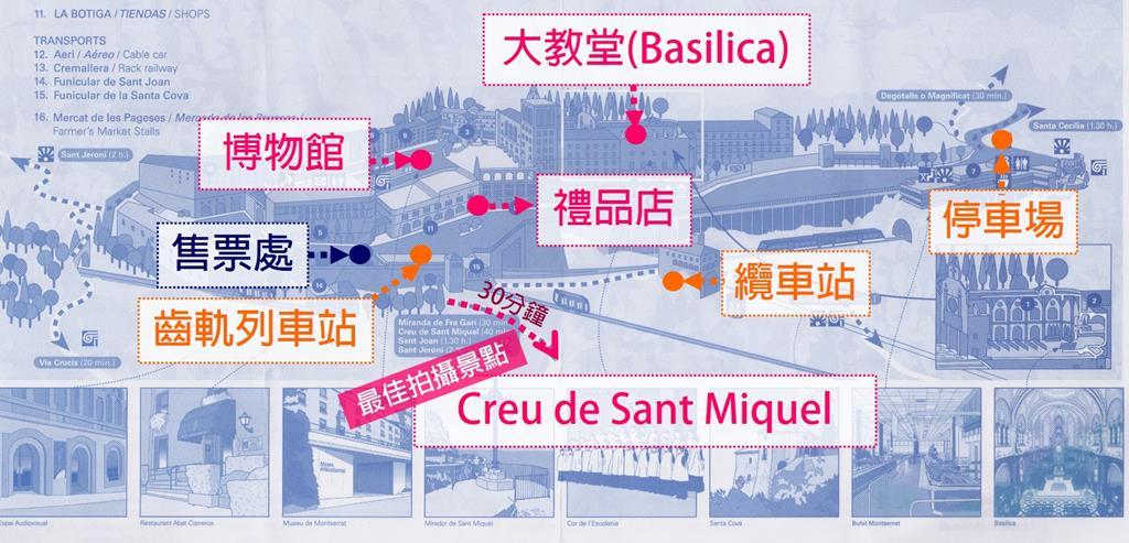 barcelona montserrat map