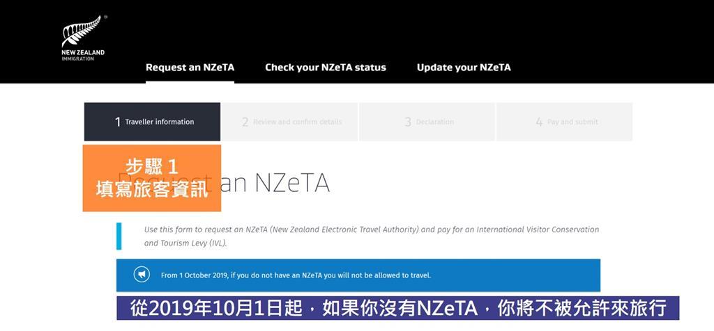 紐西蘭簽證 NZeTA