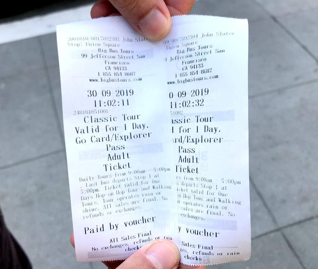 Hop On Hop Off Big Bus San Francisco ticket