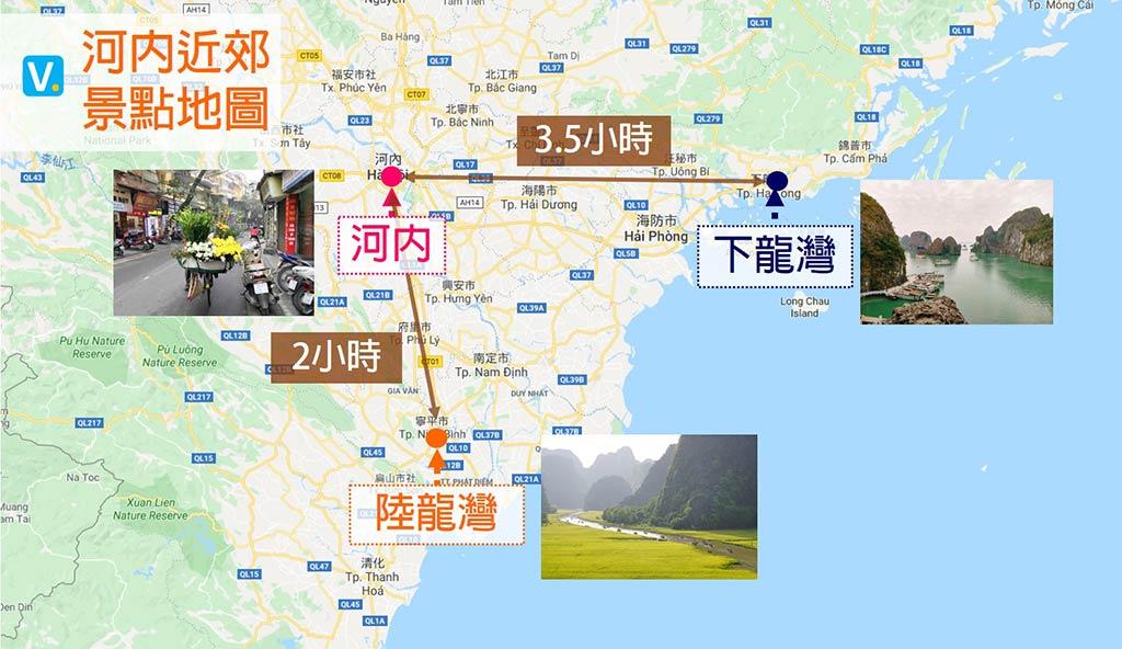 河內景點地圖