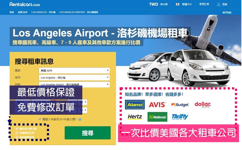 Steps of rent a car in USA