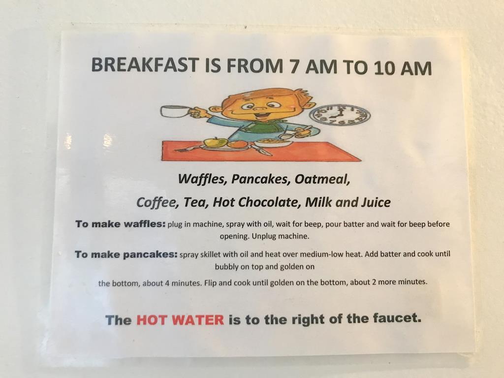 Breakfast of Orange Drive Hostel