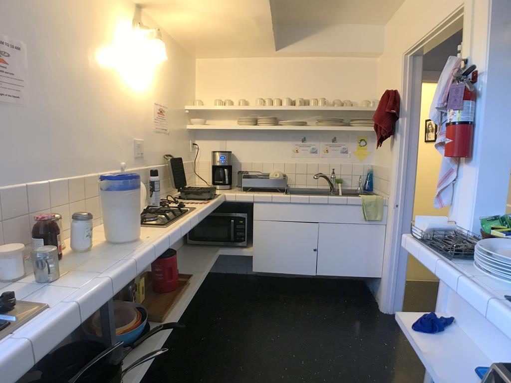 kitchen of Orange Drive Hostel