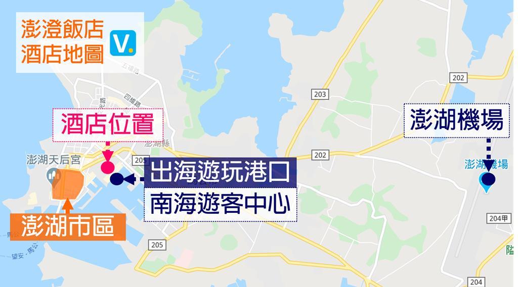 Discovery hotel Penghu map