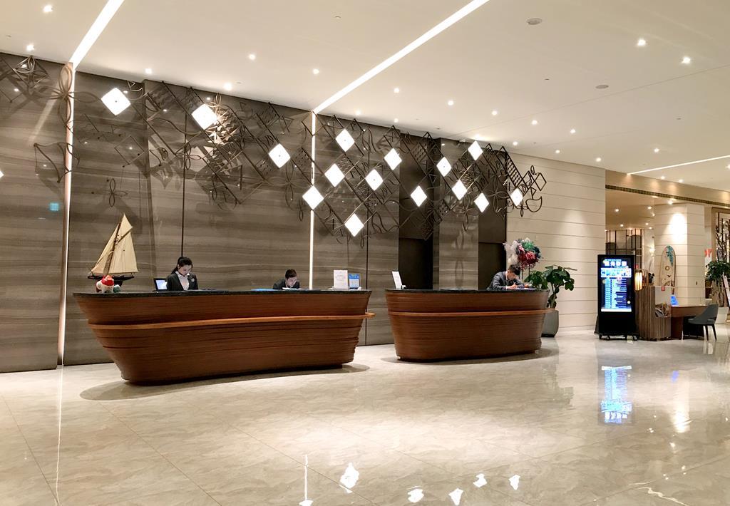 Lobby of Discovery hotel Penghu
