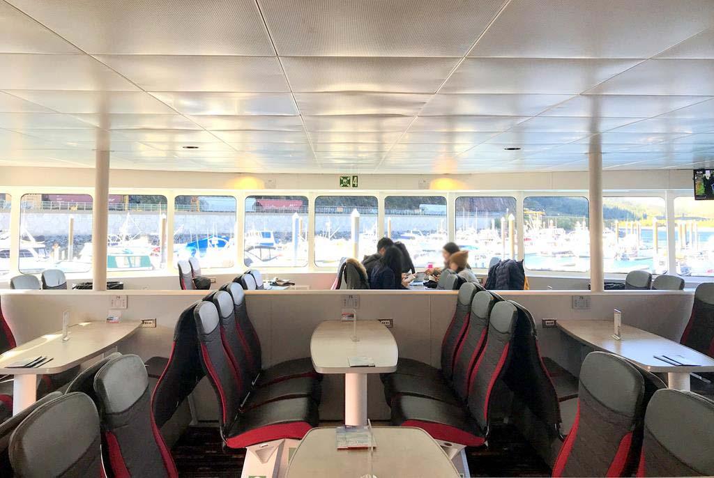 seats of Prince-William-Sound-Glacier-Cruises