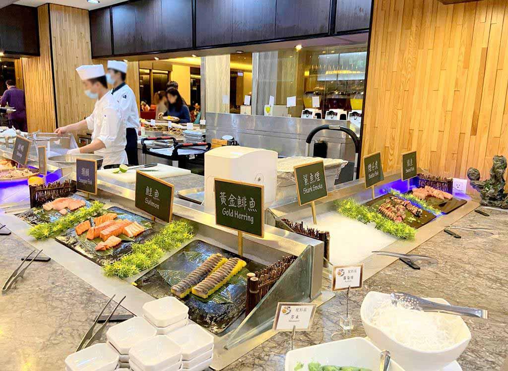 evergreen jiaosi hotel buffet