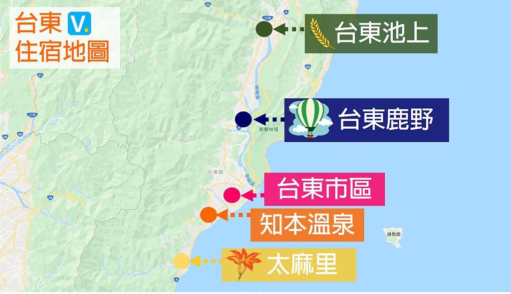 台東-住宿-地圖