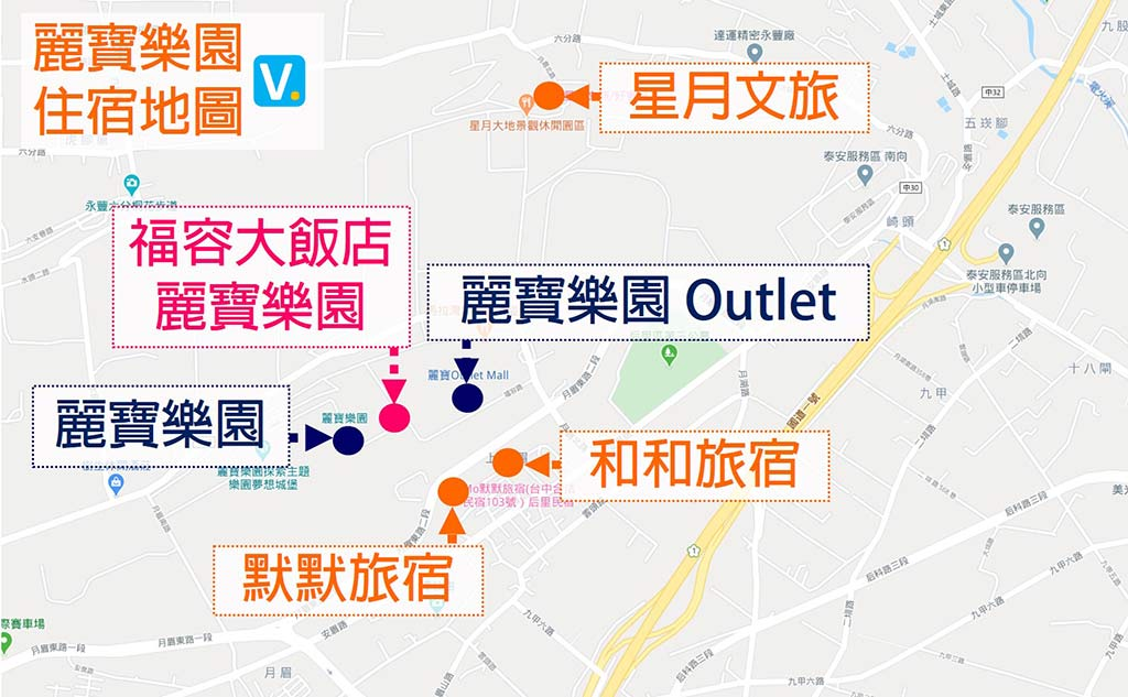 map-of-hotels-near-lihpao-land