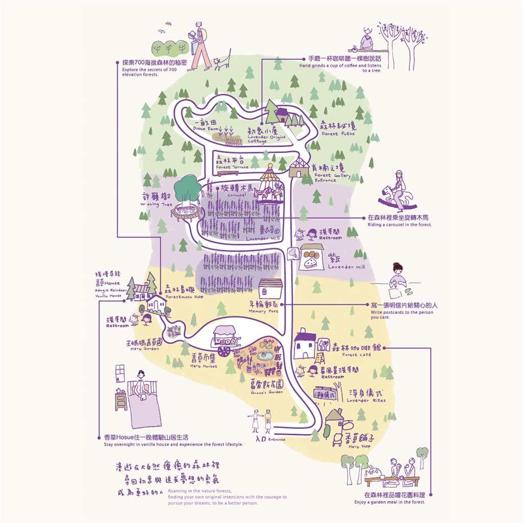 台中新社薰衣草森林 地圖