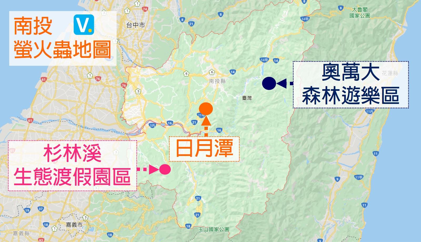 南投-螢火蟲-地圖
