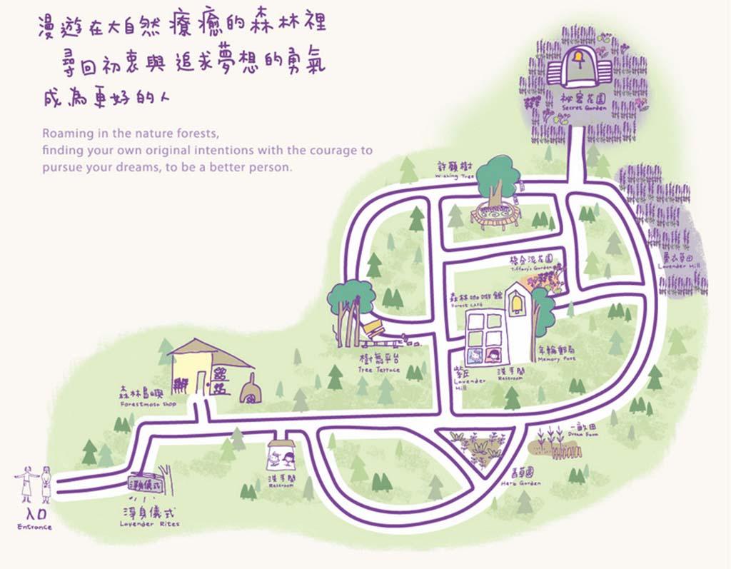 新竹薰衣草森林-地圖