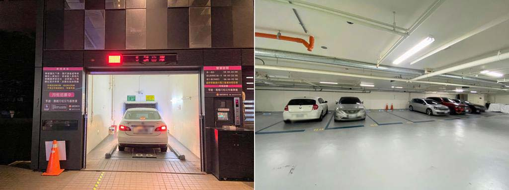parking-of-Aloft-Taipei-Zhongshan